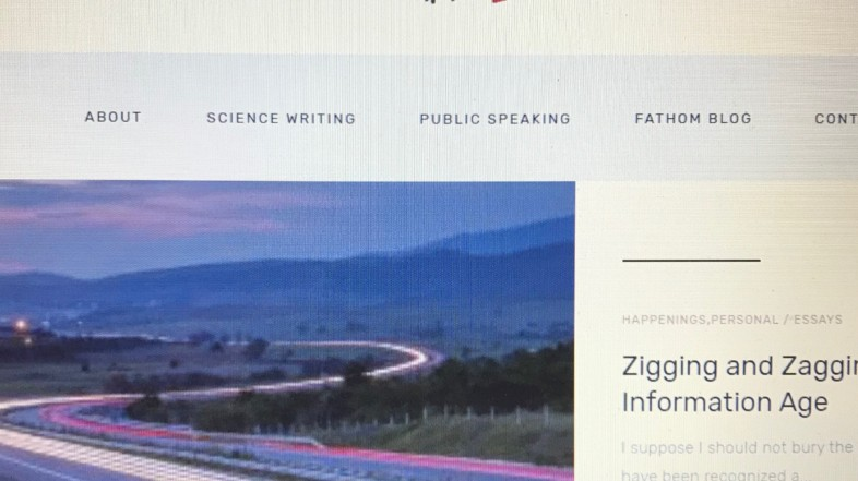A NEW WEBSITE & STICKING WITH JOURNALISM